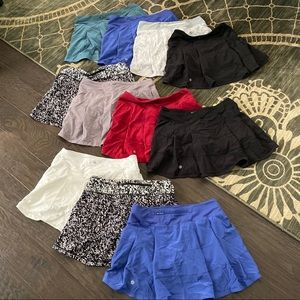 Lululemon lot of ELEVEN Skorts! All size 6 Tall